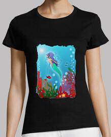 mermaid sul fondo del mare