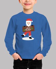 Merry Christmas camiseta Navidad manga larga niño