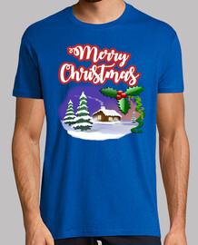 Merry christmas. camiseta personalizadas para hombres