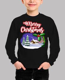 Merry christmas. camiseta personalizadas para niños