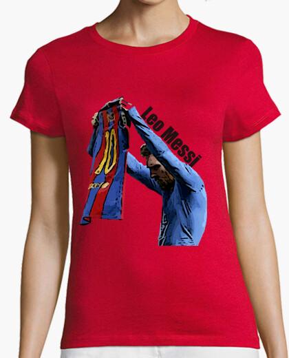 Camiseta Clasico Manga Mujer El Celebracion Messi Corta rZF6rz