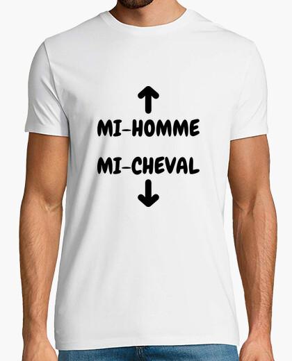 T-shirt Metà uomo e metà cavallo / umorismo