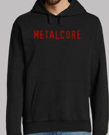 metalcore felpa, nera