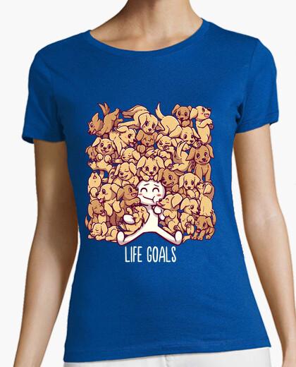 Camiseta metas de la vida - camisa de mujer