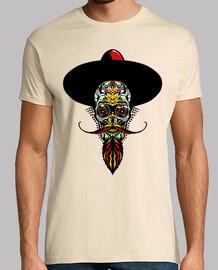 mexican skull bearded skull head