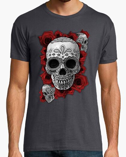Mexican skull n roses !!! t-shirt