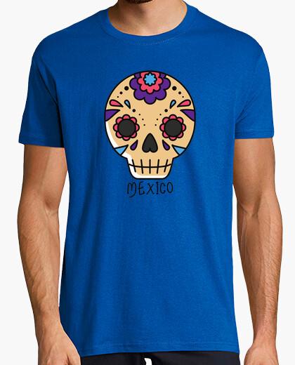 Camiseta Mexico. Travel. Hombre, manga corta, azul royal, calidad extra