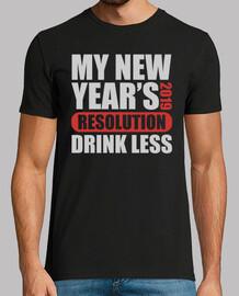 mi año nuevo resolución 2019 beber meno
