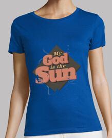 mi dios es la mujer sol camiseta