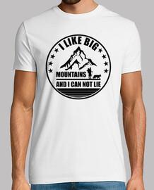 mi piacciono le grandi montagne e non posso mentire