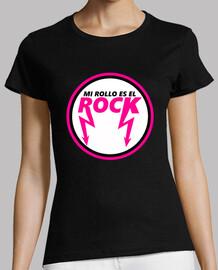 Mi Rollo Es el Rock - Mujer, manga corta, negra, calidad premium