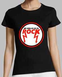 Mi Rollo Es el Rock (Mujer, Manga Corta)