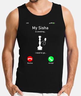mi shisha está fumando tengo que ir