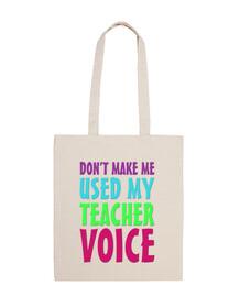 Mi voz de profesor bolso