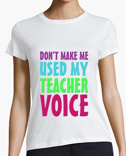 Camiseta Mi voz de profesor chica