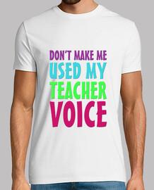 Mi voz de profesor chico