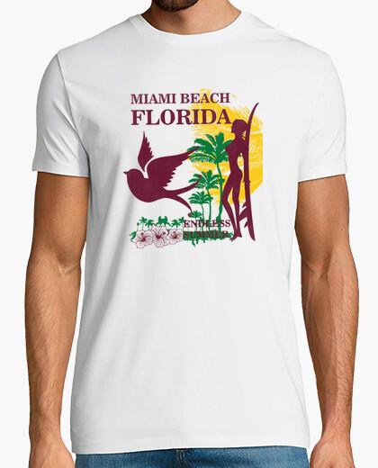 Camiseta miami beach florida verano sin fin