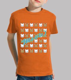 miaou-garçon, manches courtes, orange