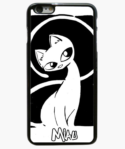 Funda iPhone 6 Plus miau 05 movil