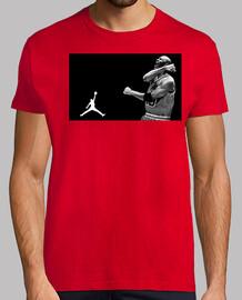 Michael Jordan en blanco/negro