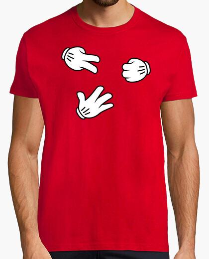 Camiseta Mickey Mouse - Piedra, Papel o Tijera