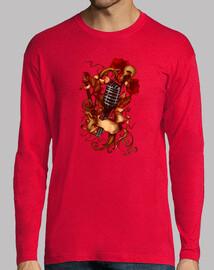 microfono, chitarra e le rose
