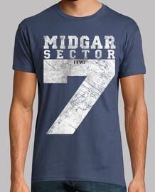 midgar sector 7 vintage bianco