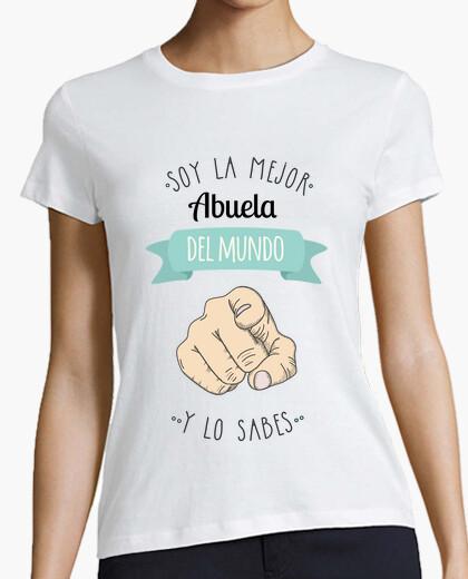 T-shirt miglior nonna sfondo chiaro del mondo (e si sa)