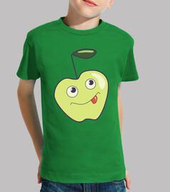 mignon bande dessinée de sourire apple