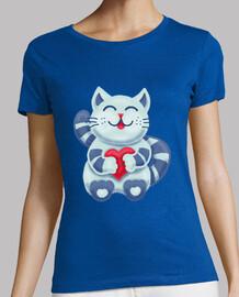 mignon chaton bleu avec coeur love