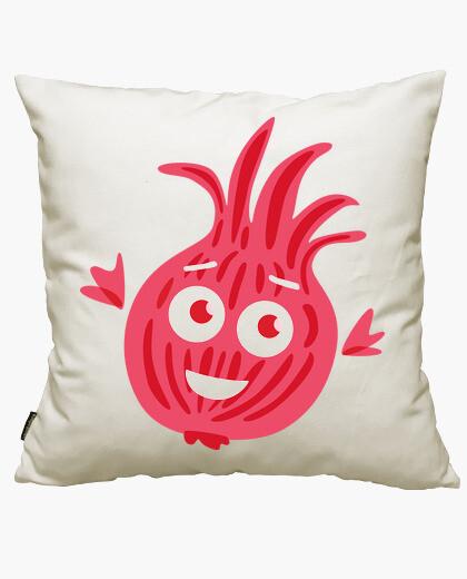 Housse de coussin mignon dessin animé oignon rouge drôle