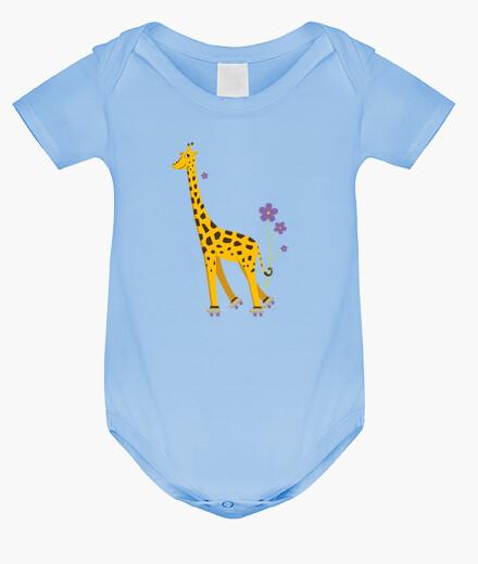 Vêtements enfant mignon dessin animé drôle patinage de girafe