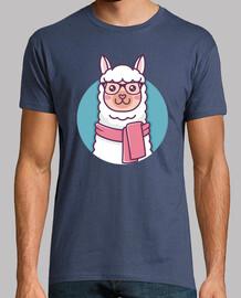 mignon hipster lama kawaii illustration