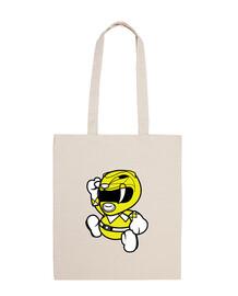 mignon sac à ranger jaune