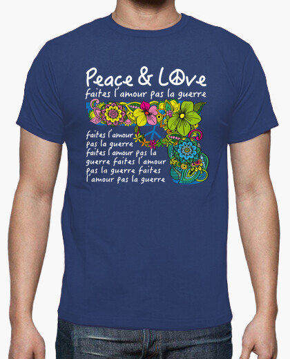 Milky savoy peace and love t-shirt