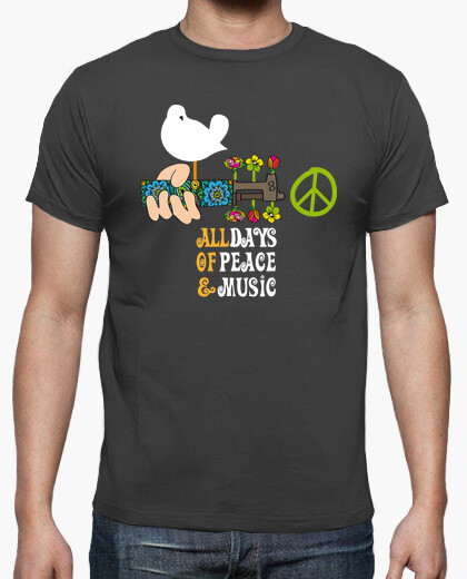 Milky savoy peace and music t-shirt