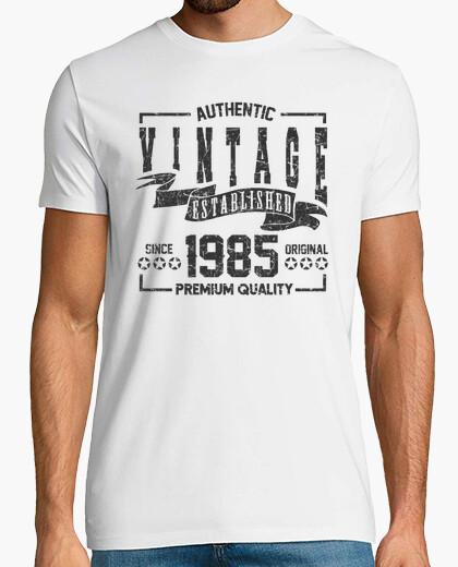 Tee-shirt millésime authentique établi 1985