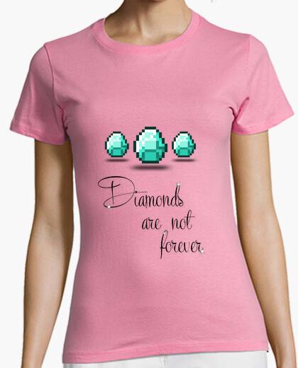 Tee-shirt minecraft - diamants sont not toujours - lettre noire