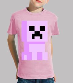 minecraft creeper elementary pink