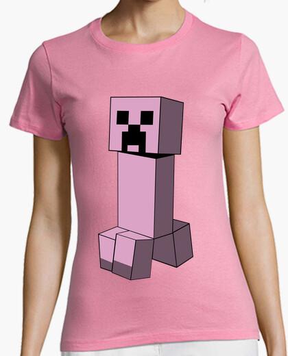 Camiseta Minecraft Creeper (Pink)