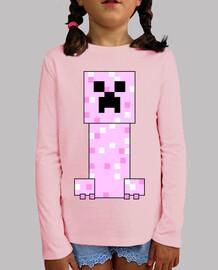 minecraft creeper pink (girl)
