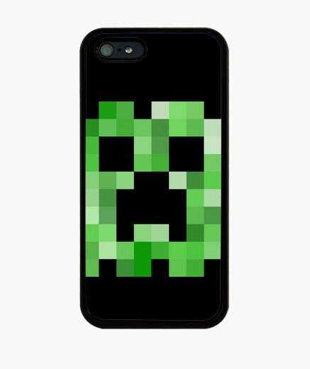 Funda iPhone Minecraft Creeper Pixel