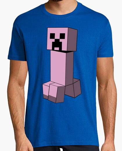 Camiseta Minecraft Creeper (Rosa)