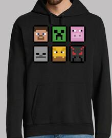minecraft est confrontée (sweatshirt)