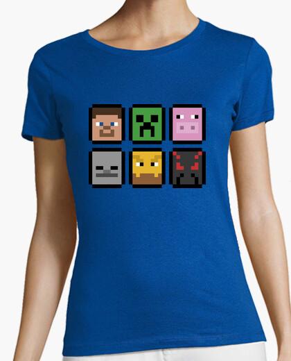 Camiseta Minecraft Faces (MUJER)