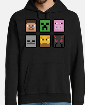 Minecraft Faces (Sudadera)