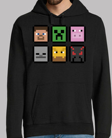 minecraft faces (sweatshirt)