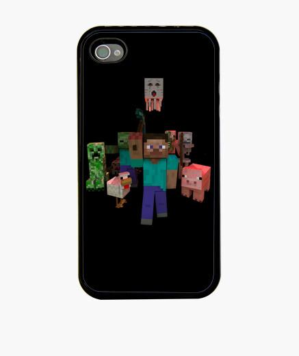 Funda iPhone Minecraft Mobs