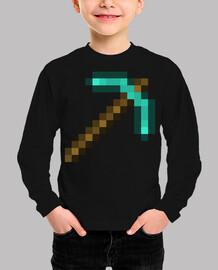 Minecraft pickaxe (TALLA INFANTIL)
