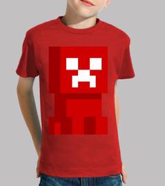 minecraft red creeper